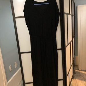 Gap black maxi dress size large